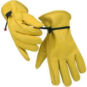 leather gardening glove